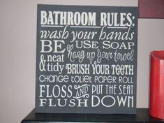 cute bathroom decor!