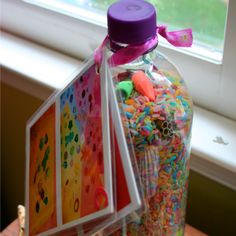 Rainbow I SPY Rice Bottle