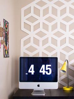 DIY Geometric Backdrop