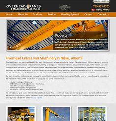 Overhead Cranes & Machinery is a Western Canadian Supplier & Manufacturer of New and Used Overhead Cranes (Top Run Single & Double Girder, Underhung Running Cranes, Freestanding Column Systems, Column Mounted Systems, Crane Outdoor Flap Door Systems, Hoists / Trolley Hoists, Turn Key Projects) Jib (Base Mounted Freestanding, Column Mounted), and Workstation & Gantry Cranes (Single & Double Girder, Single & Double Leg, Cantilever Styles). They've been serving Western Canada for over 35 Years!