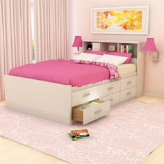 Sonax Willow Captain's Storage Bed and Dresser Set - Home Furniture Showroom