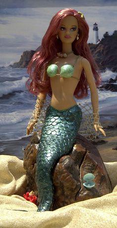 Neptune's Daughter Mermaid Barbie by tinadolls