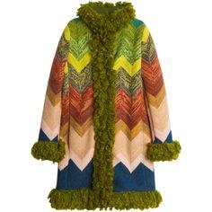 MISSONI Fur Trim Coat ($3,867) ❤ liked on Polyvore