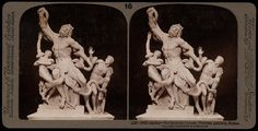 Laocoon in stereoscope, how it looked for over 400 years. Vatican museums.