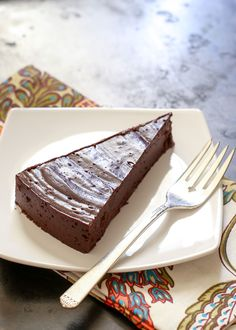 "Flourless ""Hot"" Chocolate Cake (naturally gluten free) recipe by Barefeet In The Kitchen"