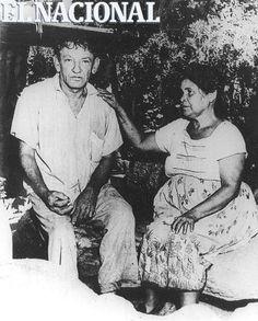 Armando Reverón junto a su esposa Juanita Ríos. (ARCHIVO EL NACIONAL)