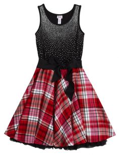 Embellished Plaid Dress | Girls Dresses Clothes | Shop Justice