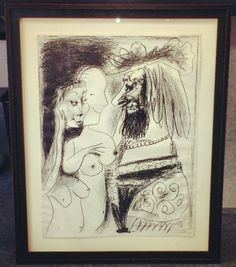 Pablo Picasso signed Limited Edition print custom framed with two stacked Fotiou Frames, museum glass and museum matting! Beautiful! Whether you have a family photo, jersey, or a piece of fine art, we can help! — at FastFrame of LoDo.