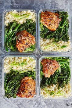Meal Prep Honey Sesame Chicken with Broccolini. 27 Chicken Meal Prep Recipes That Never Get Boring #purewow #recipe #chicken #cooking #lunch #food #mealprep #chickenmealprep #makeahead #mealplanning #chickenrecipes #easydinners #easylunches #broccolini #honeychicken #healthylunches