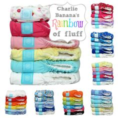 It's a rainbow of cloth diaper goodness! Color makes me so happy!