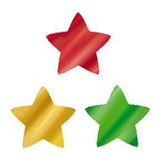 Trend Enterprises Supershapes Colorful Foil Stars Notepad (Set of 3)