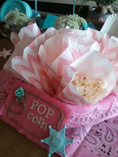 Popcorn for Vintage Cowgirl Party
