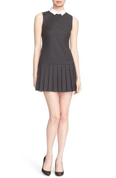 Alice + Olivia 'Alice' Pleated Drop Waist Dress available at #Nordstrom