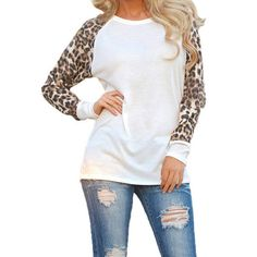 Women Spring Autumn Long Sleeve T Shirt Leopard Loose Casual Tees Tops Plus Size T-Shirt Ladies T Shirts