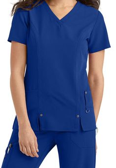 9aaa3357d24 Dickies Xtreme Stretch Tops #ebay #Fashion Royal Blue Scrubs, Medical Scrubs,  Scrub