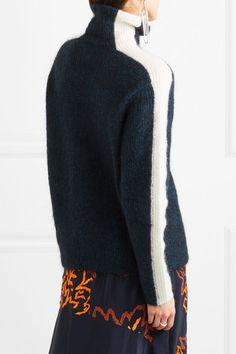 GANNI   Evangelista striped knitted turtleneck sweater   NET-A-PORTER.COM