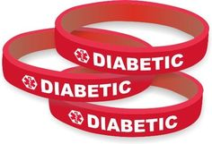 Diabetic Silicone Medical Alert Bracelets by Smart Charms, http://www.amazon.com/gp/product/B005IHT1R8/ref=cm_sw_r_pi_alp_uP8Fqb0WK55GV