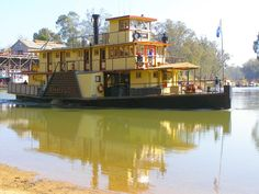 Echuca, Victoria, Australia, paddle steamer on the Murray River.
