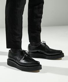 GEORGECOX LACED CREEPER IN LEATHER