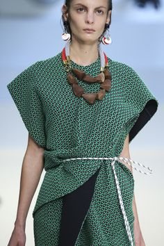 The Top 7 Accessory Trends of Spring 2015 – Vogue - Marni Chunky neck and ear layers ruled on Marni's Spring Summer 2015 runway.