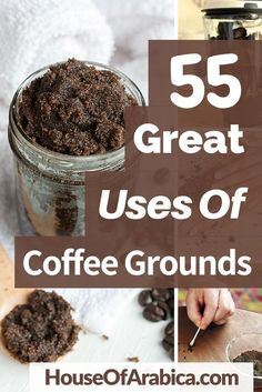 55 Awesome Uses Of Coffee Grounds To Get SUPER Benefits Everyday 55 Unexpected Uses Of Coffee Grounds For Better Life. Use coffee grounds for garden Uses For Coffee Grounds, Coffee Uses, Great Coffee, Iced Coffee, How To Darken Hair, Useful Life Hacks, Coffee Recipes, Kitchen Hacks, Better Life