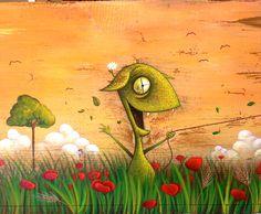 """""""Le ali della libertà"""" painting on old wood"""