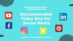 Recommended Video Size For Social Media – A Comprehensive Guide Social Media Video, Social Media Marketing, Youtube Video Player, Facebook Canvas, Social Media Landscape, Twitter Video, Video Advertising, Mobile Video, Instagram Story