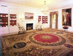 White House - China Room, 1975, Portrait of Grace Coolidge painted by Howard Chandler Christy