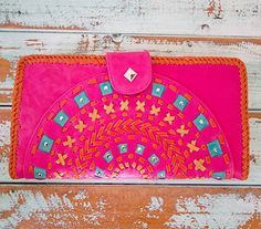 Katari clutch in pink. Gorgeous statement clutch.