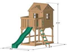 Ridgefield outdoor playset play deck large view