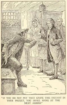 The Project Gutenberg EBook of Treasure Island, by Robert Louis Stevenson Illustrator: Louis Rhead . Billy Bones threatens Doctor Livesey http://www.gutenberg.org/files/120/120-h/120-h.htm
