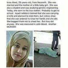masha Allah... Jadikan dia penghuni surgamu ya Allah aamiin... Israel menembak dia dengan tuduhan membawa senjata tajam. Dan ternyata itu ridak terbukti