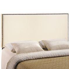 Region Full-size Upholstered Nailhead Headboard - Overstock Shopping - Big Discounts on Modway Headboards