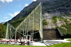 Majestic Mountain Wall Inspired Restaurant in Norway | Wave Avenue