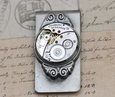Looking for the perfect Valentine's Gift For Him?  Check out this beautiful Steampunk money clip from Inspired by Elizabeth.