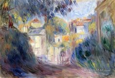 Pierre Auguste Renoir Landscape With Red Roofs oil painting reproductions for sale