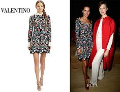 Angie Harmon's Valentino Floral Tapestry Dress