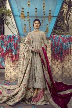 If you are looking for some unique ethnic wear this festive season, check out some gorgeous lehengas, kurtas, and more by Pakistani Bridal Designers. Asian Bridal Dresses, Pakistani Wedding Outfits, Pakistani Bridal Dresses, Pakistani Wedding Dresses, Bridal Outfits, Bridal Lehenga, Pakistani Clothing, Wedding Hijab, Indian Dresses