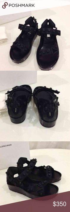 Balenciaga arena sandals Never worn. Black studs on black leather. Balenciaga Shoes Sandals