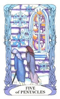 February 5 Tarot Card: Five of Pentacles (Moon Garden deck) Asking for help from others is the ultimate sign of strength and self-awareness. You don't have to go it alone now, reach out