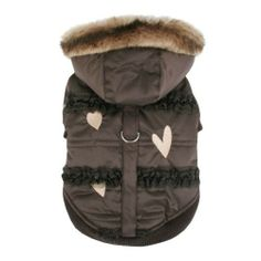 Pinkaholic New York Innocence Winter Coat for Dogs, Large, Brown - Apparel & Accessories #PetAccessoryStore $130.62