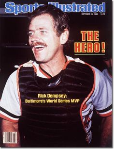 October 24, 1983 - The 1983 World Series.  Rick Dempsey, Baltimore Orioles.