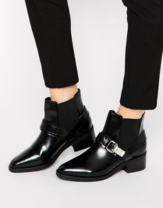 Image 1 ofASOS ANGEL IN DISGUISE Leather Chelsea Ankle Boots