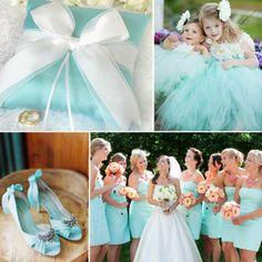 Tiffany Blau Hochzeit Ring Kisten Hochzeitskinder Brautschuhe Brauthjungfernkleider hellblau  2014 Romantische Pastellfarben Hochzeit Inspiration