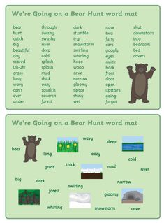Bear Hunt Word Mats