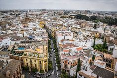City views from La Giralda at Seville's Cathedral