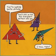 math cartoons and math comics about triangles of all shapes | Unearthed Comics