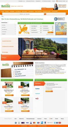 The website 'http://www.belvilla.de'