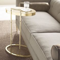 Turner Gold Side Table is today's modern drink table. Drink Table, Metal Texture, Brushed Metal, Polished Brass, Martini, Bamboo, Flooring, Modern, Gold