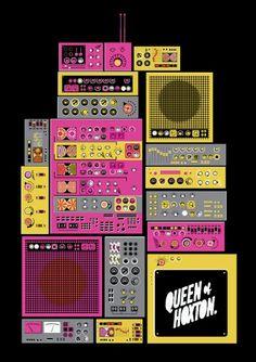 Telegramme Studio, Queen of Hoxton poster.